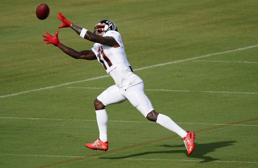 Falcons Wide Out Julio Jones Misses Practice with Hamstring Issue